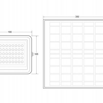 Projetor LED SOLAR de 100W