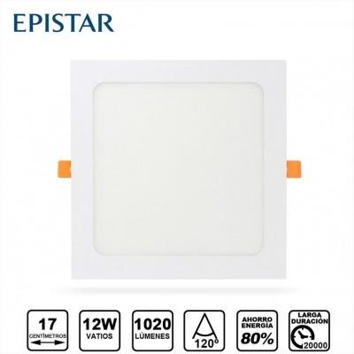 Painel LED Quadrado 12W Branco
