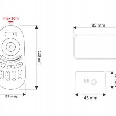 Controlador WiFi RGB-RF + Comando