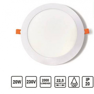 Painel LED Redondo 20W Branco ECOMAX