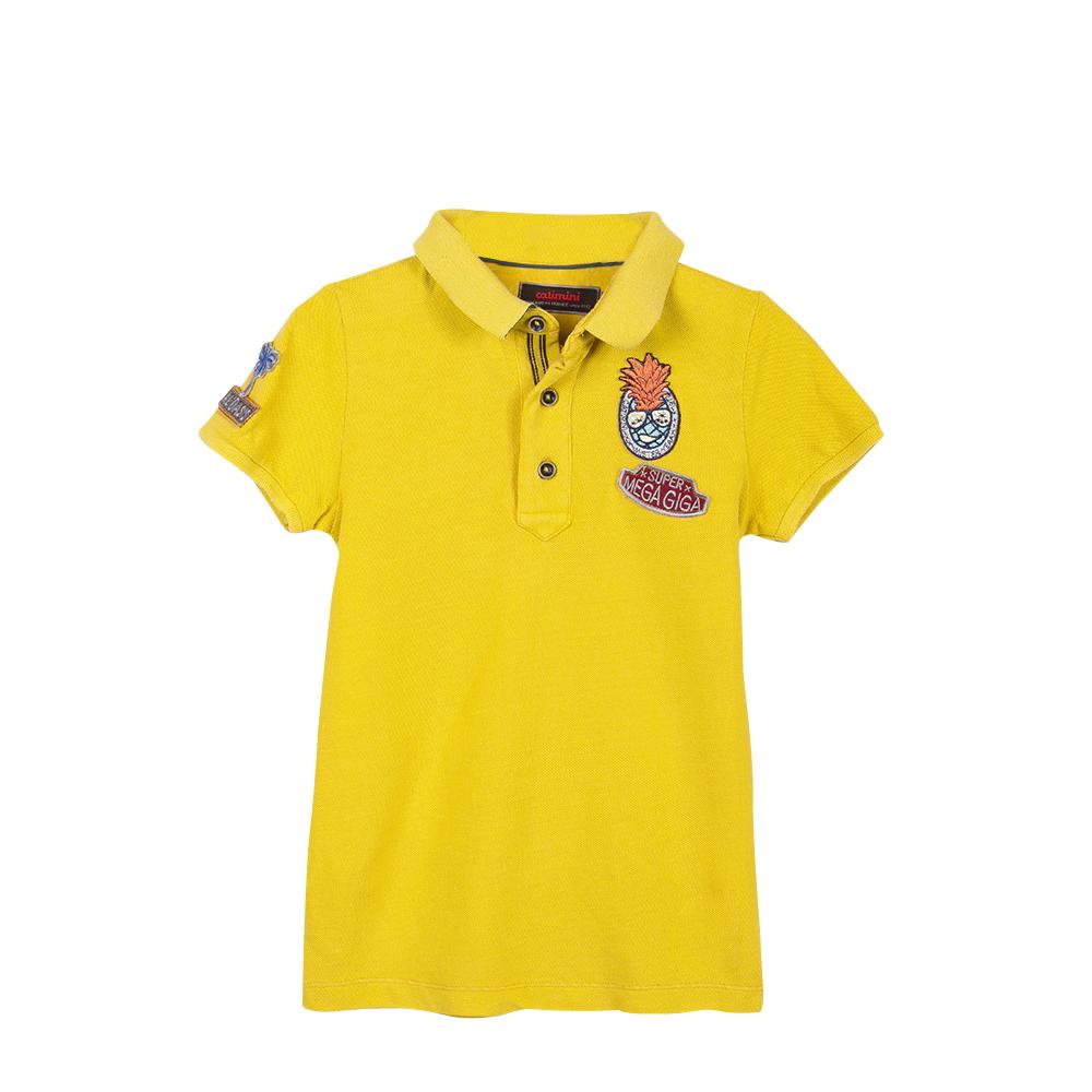 Polo manga curta amarelo Catimini