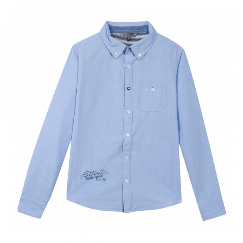 Camisa clássica azul Beckaro