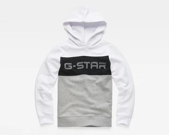 Sweat com capuz tricolor G-Star Raw