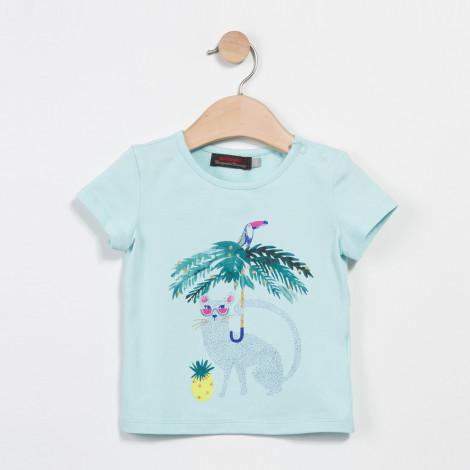 T-shirt verde água Catimini