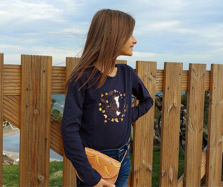 Camisola infantil feminina azul marinho 3Pommes®️