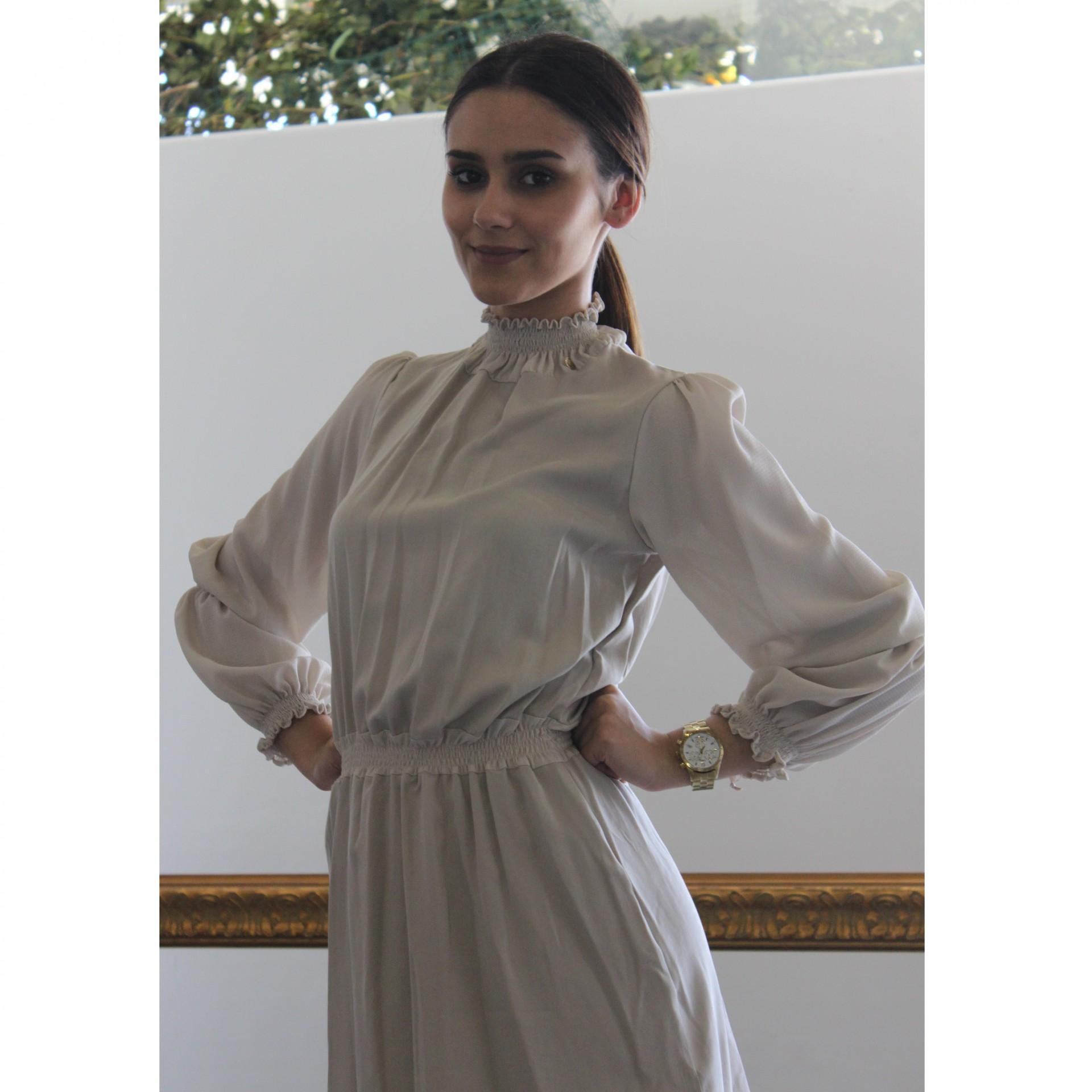 Vestido manga comprida Roberta Biagi