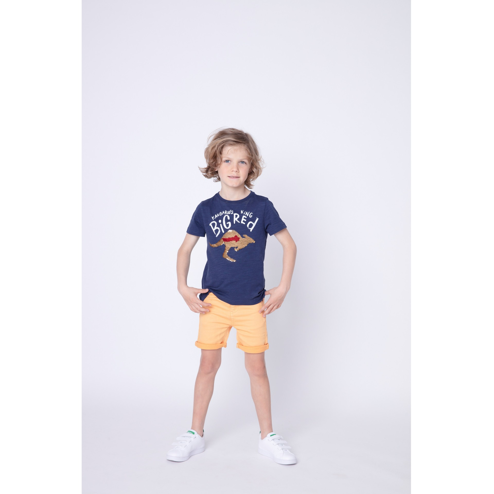 T-shirt azul marinho canguru 3pommes