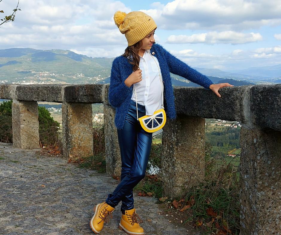Legging infantil azul 3Pommes®️