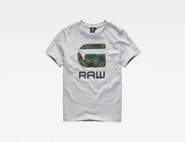 T-shirt cinza camuflado G-Star Raw