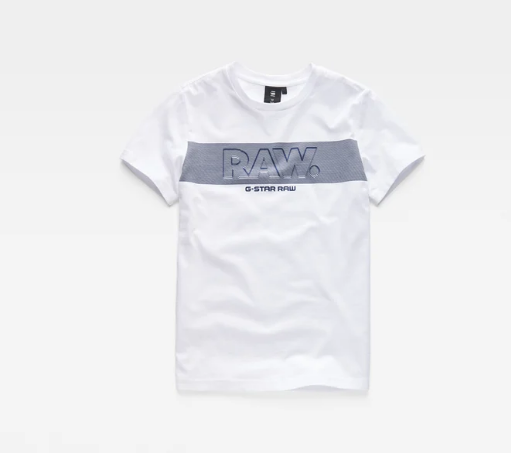 T-shirt branca de algodão G-Star Raw