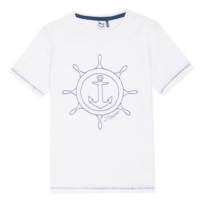 T-shirt branca marinheiro 3pommes