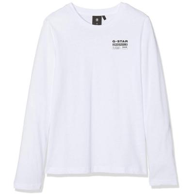 Camisola branca de algodão G-Star Raw