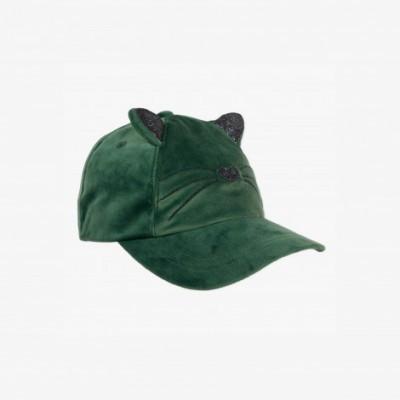 Boné verde em veludo Catimini