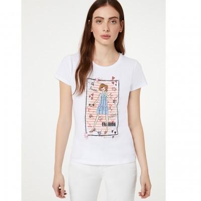 T-shirt com estampado frontal Liu Jo