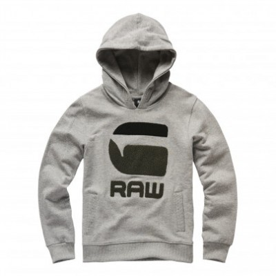 Sweat com capuz cinza G-Star Raw