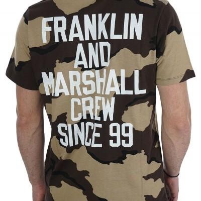 T-shirt padrão camuflado Franklin & Marshall