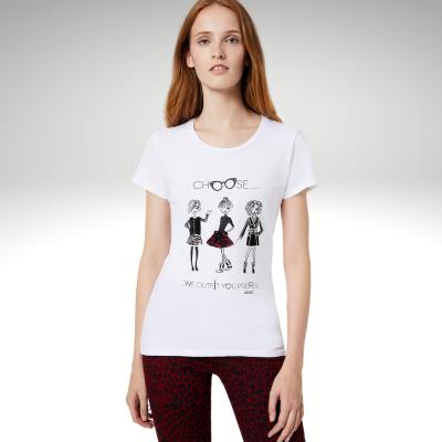 T-shirt de algodão branca Liu Jo