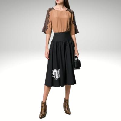 Blusa camel com renda Liu Jo