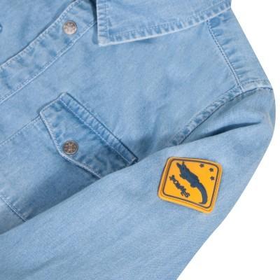 Camisa jeans infantil  3Pommes®️
