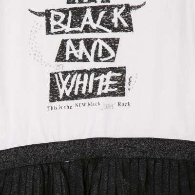 Vestido preto e branco 3pommes