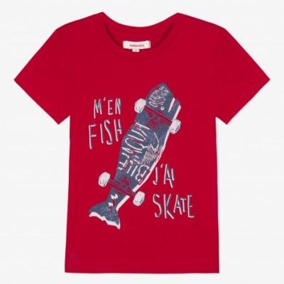T-shirt vermelha Catimini
