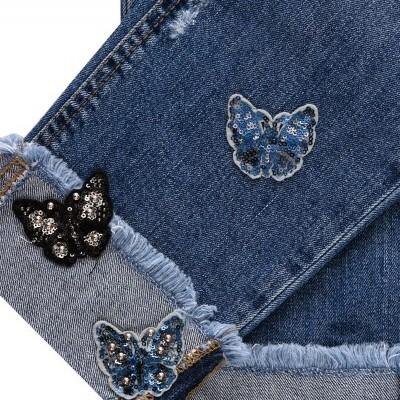 Calça de ganga com detalhe de borboleta Liu Jo