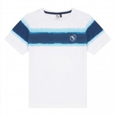 T-shirt azul e branca 3pommes