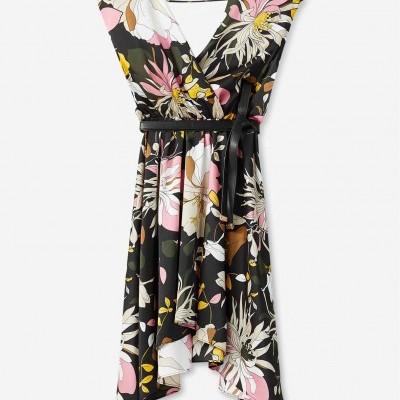 Vestido fluído padrão floral Liu Jo