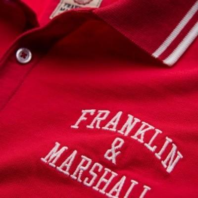 Polo vermelho Franklin & Marshal