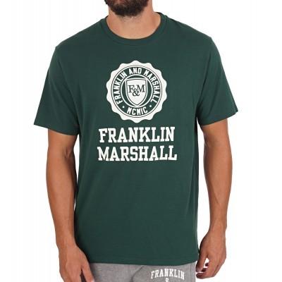 T-shirt verde Franklin & Marshall