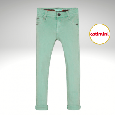 Calça verde menta Catimini