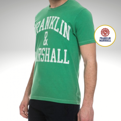 T-shirt verde Franklin & Marshall