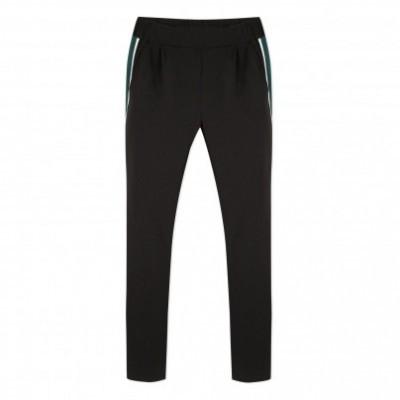Calça preta com listra verde/branca na lateral Beckaro