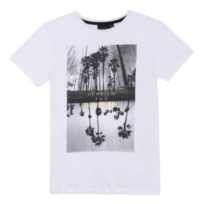 T-shirt branca com estampa frontal Beckaro