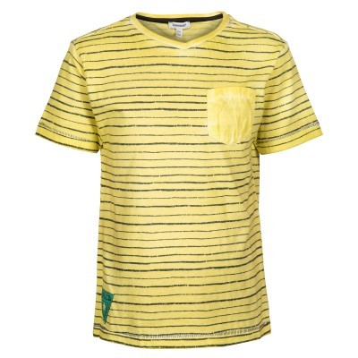 T-shirt amarela riscas pretas 3pommes