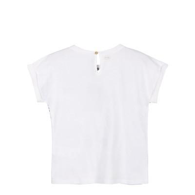 T-shirt branca com estampa frontal Catimini