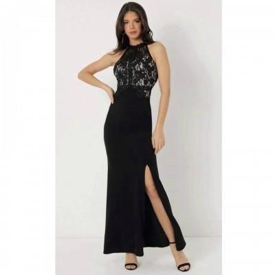 Vestido preto comprido Lipsy London