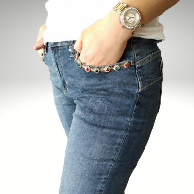 Jeans com pedras nos bolsos Liu Jo