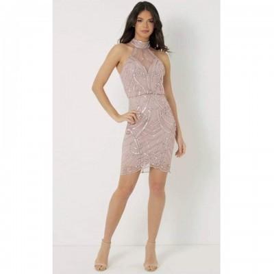 Vestido curto rosa Lipsy London