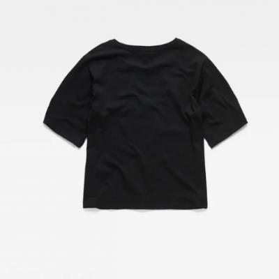 T-shirt preta logo branco G-Star Raw
