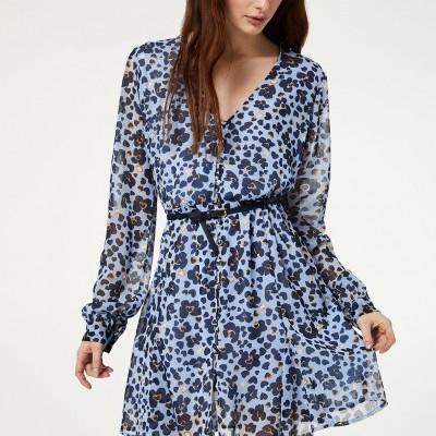 Vestido azul com padrão Liu Jo