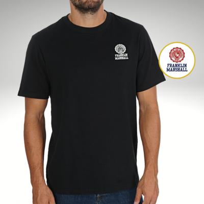 T-shirt preta Franklin & Marshall