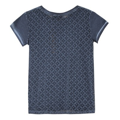 T-shirt azul marinho Beckaro