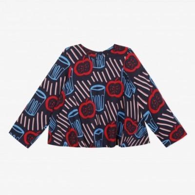 Blusa padrão retro Catimini