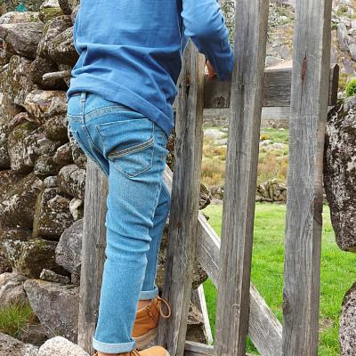 Calça jeans clara infantil 3Pommes®️