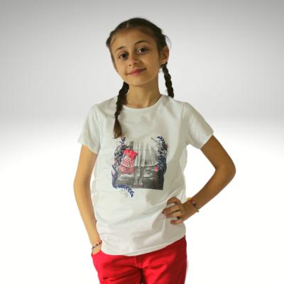 T-shirt branca 3pommes