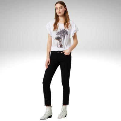 T-shirt branca padrão palmeiras Liu Jo
