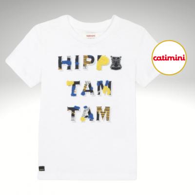 T-shirt mensagem colorida Catimini