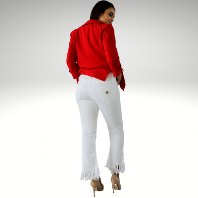 Jeans branca Roberta Biagi