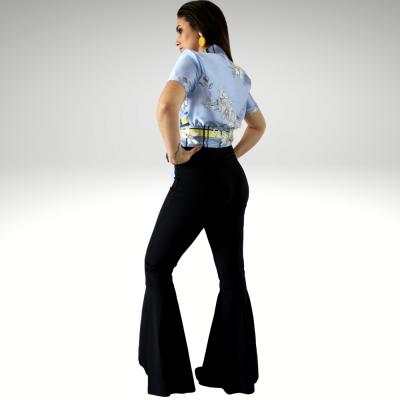 Calça preta cintura alta Roberta Biagi